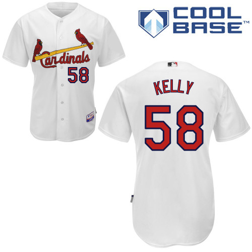 Joe Kelly #58 Youth Baseball Jersey-St Louis Cardinals Authentic Home White Cool Base MLB Jersey